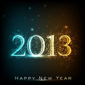 foto of happy new year 2013  - Stylized 2013 Happy New Year background - JPG