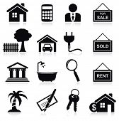 stock photo of rental agreement  - Real estate icons - JPG