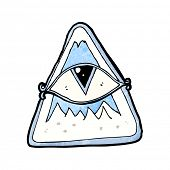 picture of all seeing eye  - cartoon all seeing eye - JPG