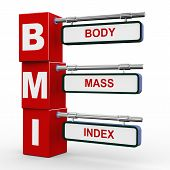 3D Modern Signboard Of Bmi