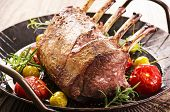 stock photo of deer meat  - grilled venison carree - JPG