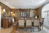 Dining Room In Brown Tones