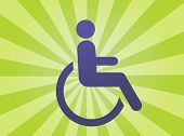 stock photo of physically handicapped  - Handicap symbol illustration icon of wheelchair clipart - JPG