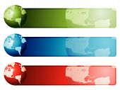 World Map Banners poster