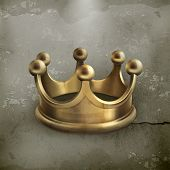 stock photo of emperor  - Gold crown old style vector - JPG