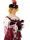 Woman In Polish Clothes Of 17 Century poster