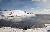 stock photo of arctic landscape  - Arctic view of icy landscape in Finland - JPG