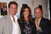 Rande Gerber, Cindy Crawford and Brian Edwards at the
