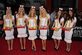 Jenny Ladner, Kourtney Pogue, Jessica Kinni and Anne McDaniels dressed as nurses at the