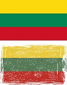 Lithuanian grunge flag. Vector