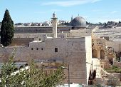 picture of aqsa  - A view of the Temple Mount in Jerusalem including Al-Aqsa Mosque.