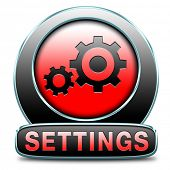settings Cogwheel gear mechanism change or reset setting icon