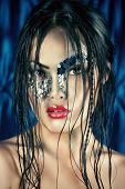 image of undine  - Portrait of an asian model with fantasy make - JPG
