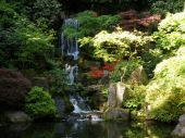 stock photo of portland oregon  - Crane Lake at the Japanese Gardens - JPG