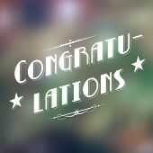 stock photo of tribute  - illustration of Congratulations typography background - JPG