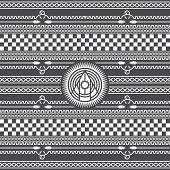 pic of mohawk  - native american pattern vector graphic art illustration - JPG