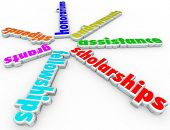 foto of fellowship  - Scholarships words financial aid support stipends - JPG