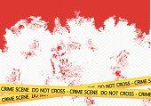 picture of crime scene  - an images of  Crime scene danger tapes illustration - JPG