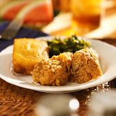 stock photo of southern fried chicken  - soul food  - JPG