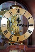 pic of pendulum clock  - Grandpa style clock with see through mechanism gears