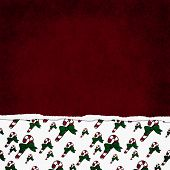 foto of candy cane border  - Square Red Green and White Candy Cane Torn Grunge Textured Background with copy space at top - JPG