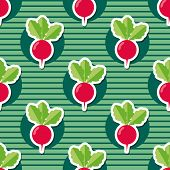 stock photo of radish  - radish pattern - JPG