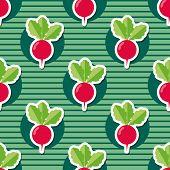 foto of radish  - radish pattern - JPG