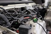 stock photo of chassis  - automotive wiring - JPG
