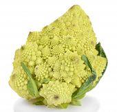 stock photo of romanesco  - Romanesco broccoli isolated on white - JPG