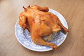 image of convection  - Appetizing homemade chicken with a ruddy crust - JPG