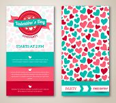 stock photo of valentine heart  - Beautiful greeting or invitation cards with heart pattern - JPG