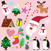 image of christmas theme  - Cute Christmas theme element for multi purpose - JPG