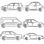 stock photo of mechanical drawing  - set of 6 sketch - JPG