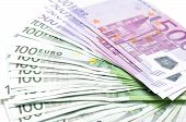 image of currency  - Big Stack of money -euro banknotes are the currency from Europe
