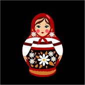 stock photo of doll  - Russian traditional souvenir - JPG