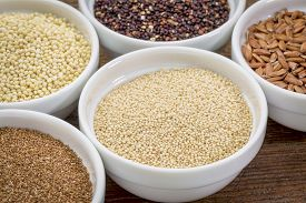 pic of millet  - amaranth  and other gluten free grains  - JPG