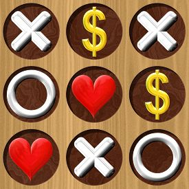 image of tic  - Tic Tac Toe wooden board generated seamless texture - JPG
