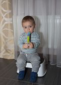 foto of flute  - Boy with Flute pretty young musician playing - JPG