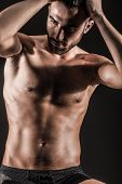 image of hunk  - The Muscular Young Sexy Naked Cute Man - JPG