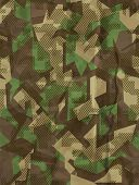stock photo of ammo  - Seamless vector square camouflage series in the green scheme - JPG