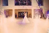 foto of night gown  - beautiful romantic first dance by wedding couple - JPG
