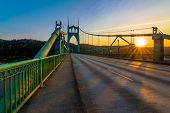 stock photo of girder  - Beautiful Sunset Image of Saint John - JPG