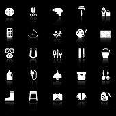 stock photo of fibonacci  - DIY tool icons with reflect on white background stock vector - JPG