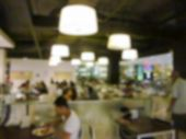 foto of canteen  - blurry defocused image of canteen for background - JPG