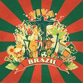 stock photo of brazilian carnival  - Illustration of traditional Brazilian items - JPG