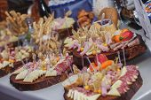 picture of catering  - Catering food with decoration during celebration and reception