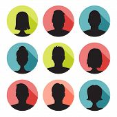 pic of avatar  - vector set of colorful user profile illustrations - JPG