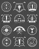 Постер, плакат: Vector Set Of Badges And Icons Golf Clubs