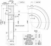 picture of degree  - Expanded wheel sketch with tilt angle - JPG