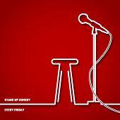 Постер, плакат: Stand Up Comedy Line